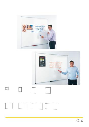 Metroplan 49494 Enamel Magnetic whiteboard