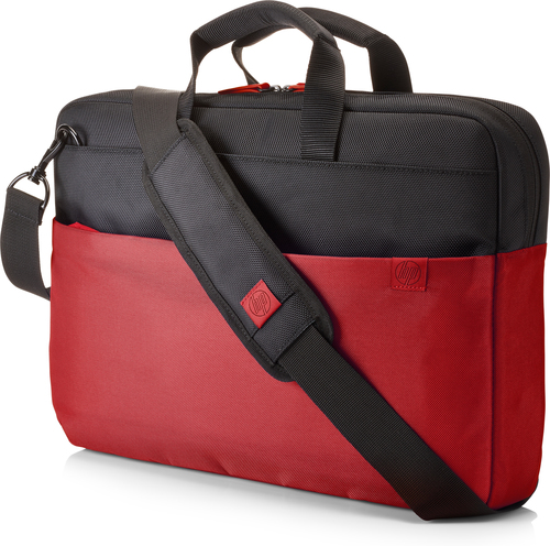 """HP 15.6 Duotone Red BriefCase notebook case 39.6 cm (15.6"""") Black,Red"""