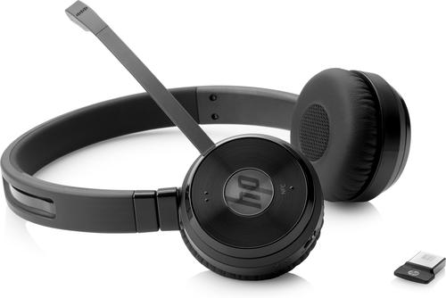 HP UC Wireless Duo mobiele hoofdtelefoon Stereofonisch Hoofdband Zwart