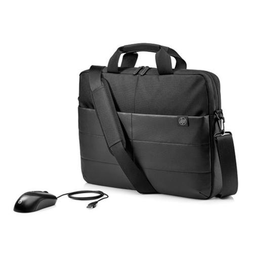 "HP 15.6"" Classic Briefcase & Mouse notebook case 39.6 cm (15.6"") Black"