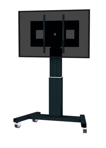 "Newstar PLASMA-M2500BLACK 100"" Portable flat panel floor stand Zwart flat panel vloer standaard"