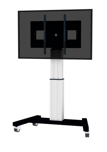 "Newstar PLASMA-M2500SILVER 100"" Portable flat panel floor stand Zwart, Wit flat panel vloer standaard"
