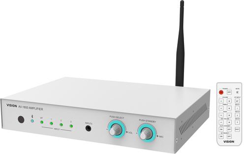 Vision AV-1800 Thuis Bedraad en draadloos Wit audio versterker