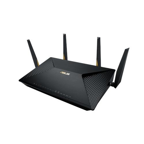 ASUS BRT-AC828 wireless router Dual-band (2.4 GHz / 5 GHz) Gigabit Ethernet 3G 4G Black