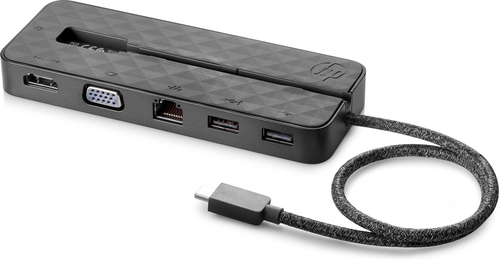 HP USB-C Mini Bedraad USB 3.2 Gen 1 (3.1 Gen 1) Type-C Zwart