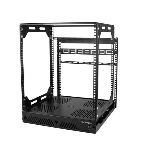 StarTech.com 12U uitschuifbaar server rack roteerbaar open frame serverkast