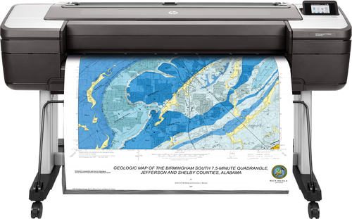 HP Designjet T1700dr 44-in PostScript grootformaat-printer Thermische inkjet Kleur 2400 x 1200 DPI 1118 x 1676 mm