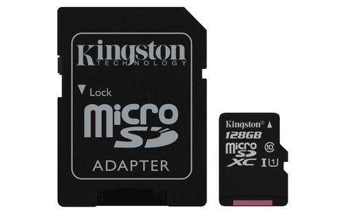Kingston Technology Canvas Select flashgeheugen 128 GB MicroSDXC UHS-I Klasse 10