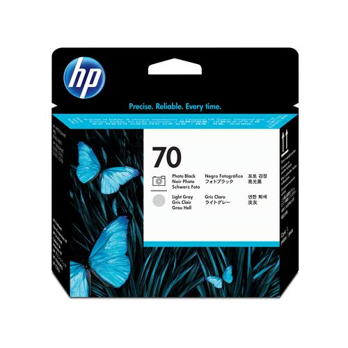 HP 70 Photo Black and Light Gray DesignJet Printhead