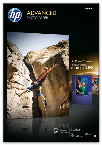 HP Advanced Photo Paper, glanzend, 20 vel, A3/297 x 420 mm
