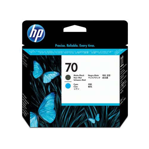 HP 70 matzwarte/cyaan DesignJet printkop