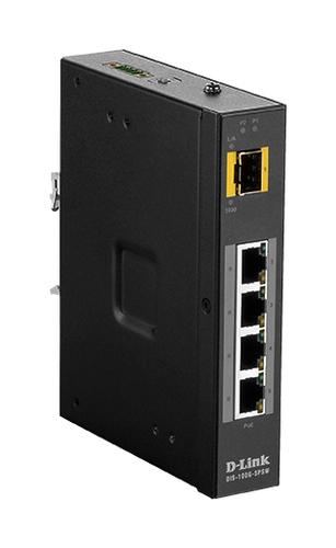 D-Link DIS‑100G‑5PSW Unmanaged L2 Gigabit Ethernet (10/100/1000) Power over Ethernet (PoE) Black