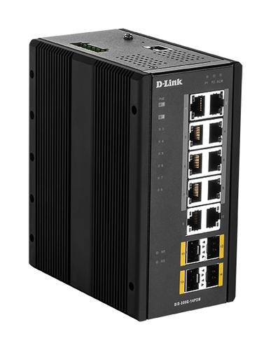 D-Link DIS‑300G‑14PSW Managed L2 Gigabit Ethernet (10/100/1000) Zwart Power over Ethernet (PoE)