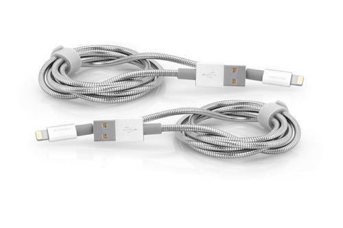 Verbatim 48872 Lightning-kabel 1 m Roestvrijstaal, Wit