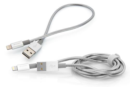 Verbatim 48873 Lightning-kabel 1 m Roestvrijstaal