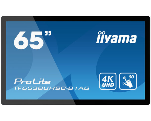 "iiyama TF6538UHSC-B1AG beeldkrant 165,1 cm (65"") LED 4K Ultra HD Touchscreen Interactief flatscreen Zwart"
