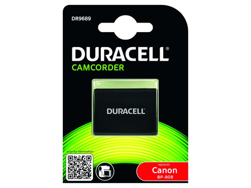 Duracell Camcorder Battery 7.4v 900mAh 6.7Wh Lithium-Ion (Li-Ion) 900mAh 7.4V rechargeable battery