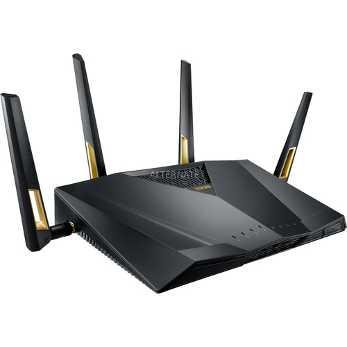 ASUS RT-AX88U wireless router Dual-band (2.4 GHz / 5 GHz) 3G 4G Black