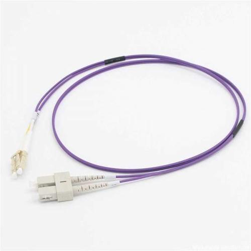 C2G 2M LC/SC OM4 LSZH FIBRE PATCH - VIOLET fiber optic cable OM3