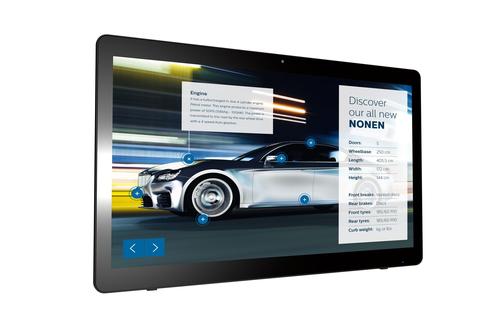 "Philips Signage Solutions 24BDL4151T/00 beeldkrant Digitale signage flatscreen 59,9 cm (23.6"") LED Full HD Zwart Touchscreen An"