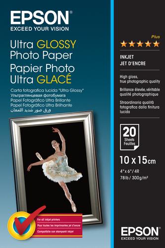 Epson Ultra Glossy Photo Paper - 10x15cm - 20 Vellen pak fotopapier