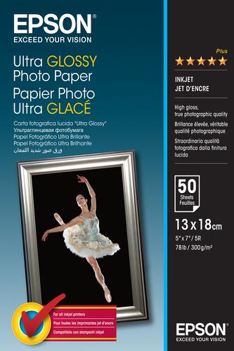 Epson Ultra Glossy Photo Paper, 130 x 180 mm, 300g/m², 50 Vel