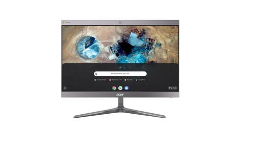 "Acer Chromebase 24 CA24I2 60,5 cm (23.8"") 1920 x 1080 Pixels 1,8 GHz Intel® Celeron® 3867U Zilver Alles-in-één-pc"