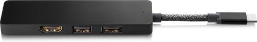 HP Elite USB-C Hub Wired USB 3.2 Gen 1 (3.1 Gen 1) Type-C Black