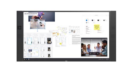 "NEC InfinityBoard 2.1 2,18 m (86"") LED 4K Ultra HD Touchscreen Digitale signage flatscreen Zwart Windows 10 Pro"