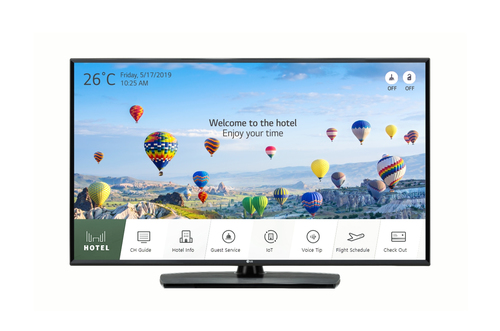 "LG 49UT661H signage display 124.5 cm (49"") LED 4K Ultra HD Digital signage flat panel Black"