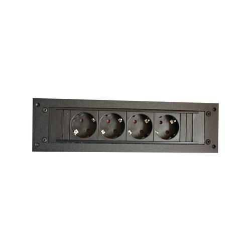 ErgoXS ELEC042 elektrische stekker Zwart