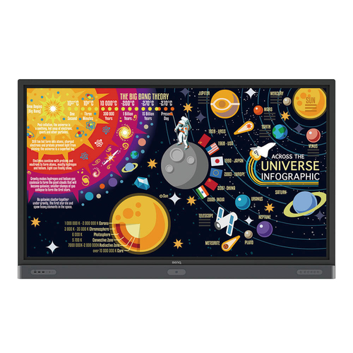 """Benq RP7501K 190.5 cm (75"""") 3840 x 2160 pixels Black Multi-touch Multi-user"""