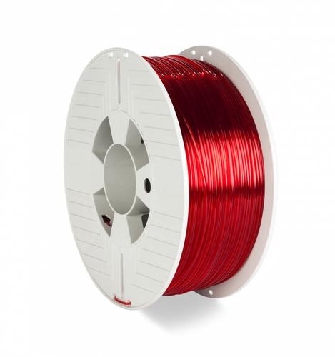Verbatim 55054 3D-printmateriaal Polyethyleentereftalaatglycol (PETG) Rood, Transparant 1 kg