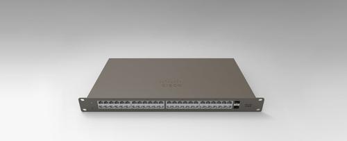 Cisco Meraki GS110-48-HW-UK network switch Managed Gigabit Ethernet (10/100/1000) Gray 1U