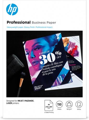 HP 3VK91A papier voor inkjetprinter A4 (210x297 mm) Glans Wit