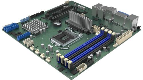 Intel DBM10JNP2SB moederbord Intel C246 LGA 1151 (Socket H4) micro ATX