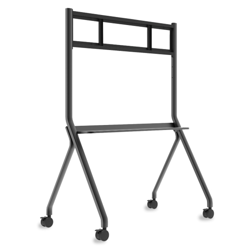 Viewsonic AC VB-STND-005 slim trolley cart provides mobility t large format DP