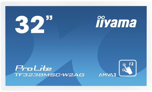 "iiyama ProLite TF3238MSC-W2AG 80 cm (31.5"") LED Full HD Touchscreen Interactief flatscreen Wit"