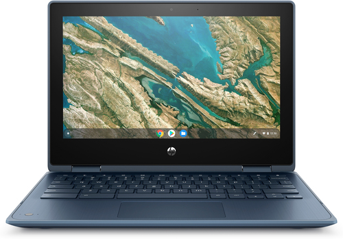 "HP Chromebook x360 11 G3 EE Blauw 29,5 cm (11.6"") 1366 x 768 Pixels Touchscreen Intel® Celeron® 4 GB LPDDR4-SDRAM 32 GB eMMC Wi"