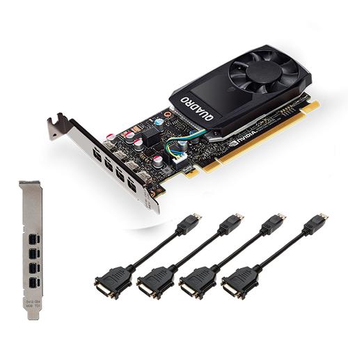 PNY VCQP1000DVIV2-PB videokaart NVIDIA Quadro P1000 V2 4 GB GDDR5
