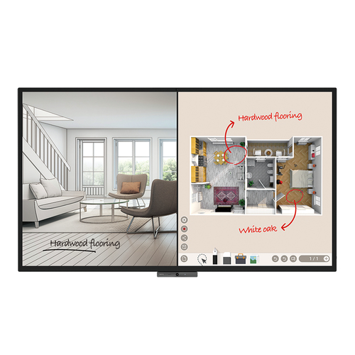 "Benq CP8601K 2.18 m (86"") LED 4K Ultra HD Touchscreen Digital signage flat panel Black"