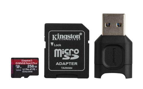 Kingston Technology Canvas React Plus memory card 256 GB MicroSD Class 10 UHS-II
