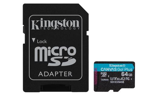 Kingston Technology Canvas Go! Plus memory card 64 GB MicroSD Class 10 UHS-I