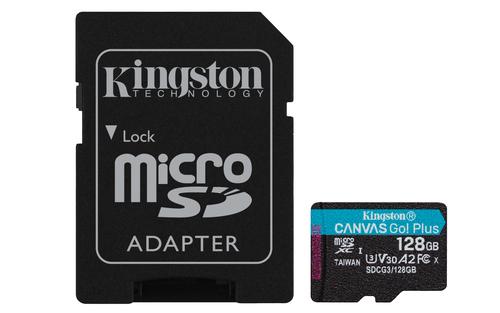 Kingston Technology Canvas Go! Plus memory card 128 GB MicroSD Class 10 UHS-I