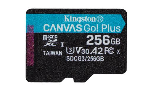 Kingston Technology Canvas Go! Plus memory card 256 GB MicroSD Class 10 UHS-I