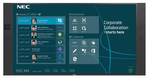 "NEC InfinityBoard 2.1 QL 190,5 cm (75"") 3840 x 2160 Pixels Multi-touch Zwart"