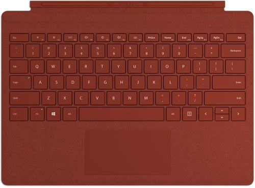 Microsoft Surface Go Signature Type Cover mobile device keyboard Red Microsoft Cover port