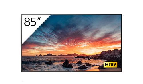 "Sony FWD-85X80H/T beeldkrant Digitale signage flatscreen 2,15 m (84.6"") LED, VA 4K Ultra HD Zwart Type processor Android 9.0"