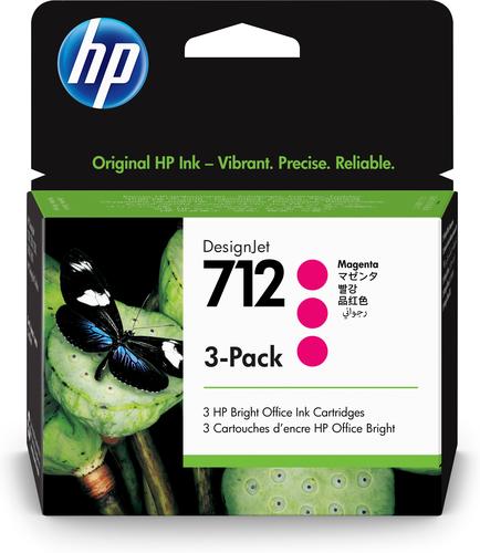 HP 712 Original Magenta 3 pc(s) Standard Yield
