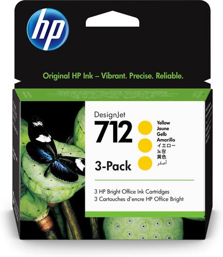 HP 712 Original Yellow 3 pc(s)